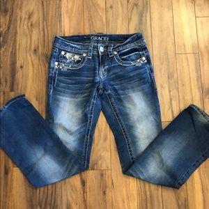 Grace in LA jeans.